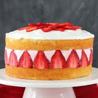 Strawberry Ice Cream Cake.