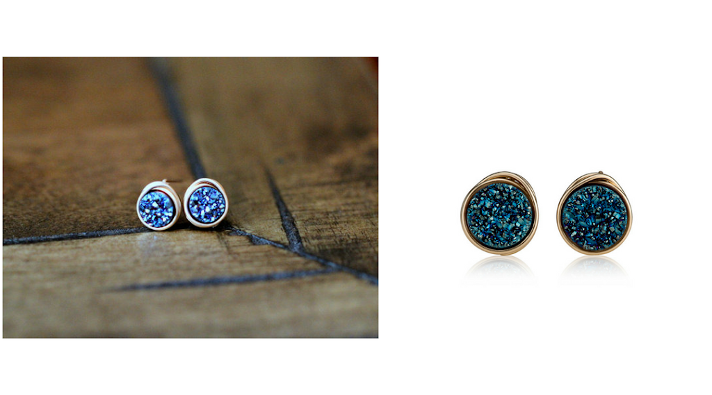 Earrings before and after