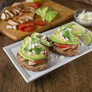 Avocado, Chicken, Tomato Sandwich