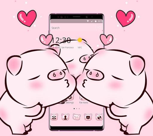 Pink Cute Love Piggy Theme 1.1.9 2