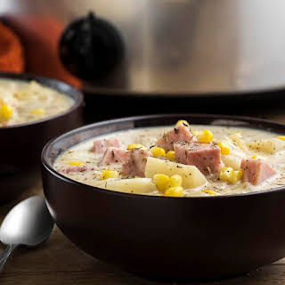 Slow Cooker Ham and Potato Soup.