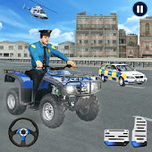 US Police Moto ATV Quad Bike Transporter Game