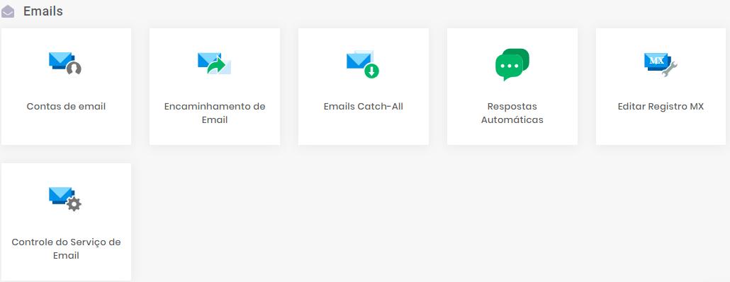 localizar seção de encaminhamento de email na hostinger
