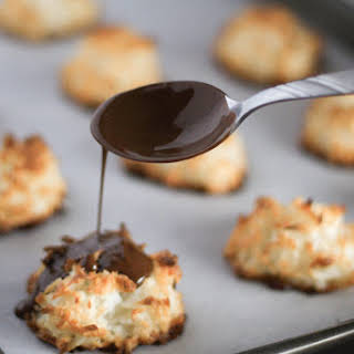 Chocolate Drizzled Coconut Macaroons.