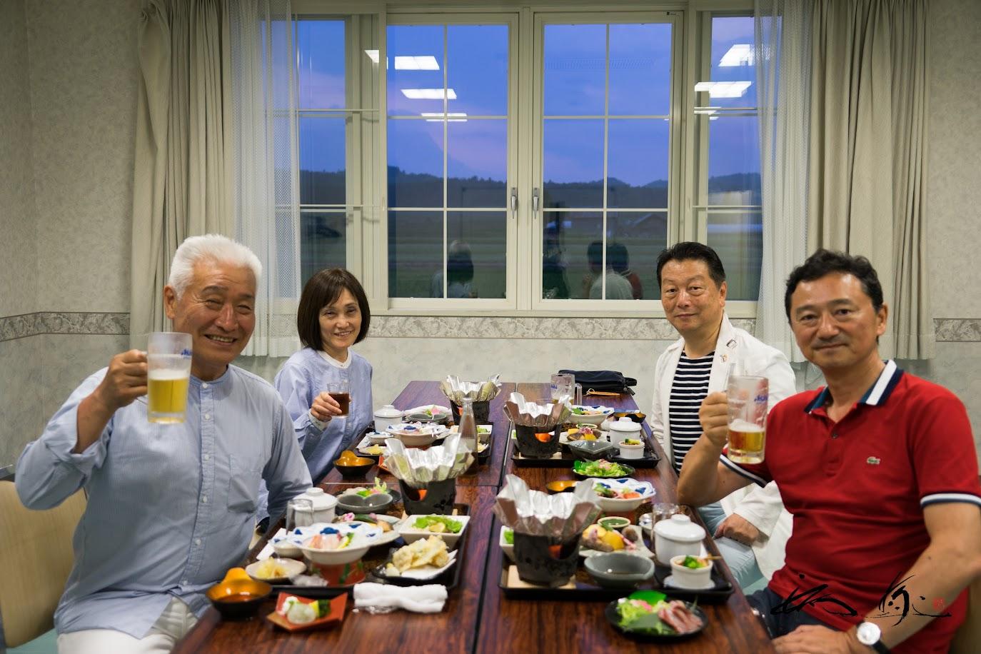 北竜温泉での夕食