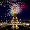 Fireworks in Paris Wallpaper Icon
