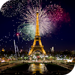 Fireworks in Paris Wallpaper Icon