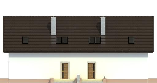 Turkawka z garażem 1-st. bliźniak A-BL1 - Elewacja tylna