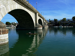 Photo: A view of London Bridge at Lake Havasu City under ideal conditions.