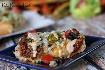 French Bread Taco Pizza with Chipotle Ranch