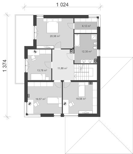UA23v1 - Rzut piętra