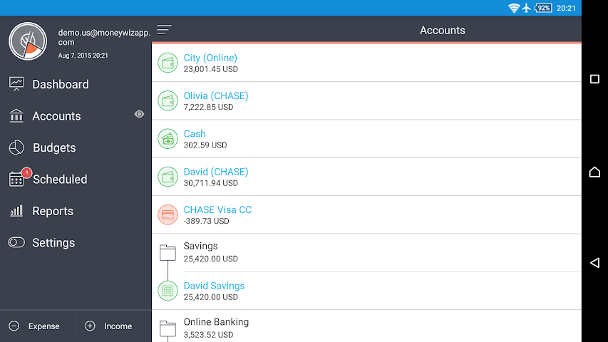 android MoneyWiz 2 - Personal Finance Screenshot 0
