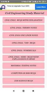 Civil Engineering - ( SSC JE, RRB JE ) 7.0