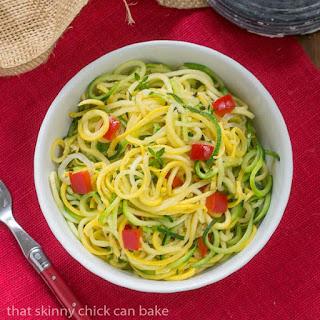 Zucchini Noodles with Parmesan Recipe