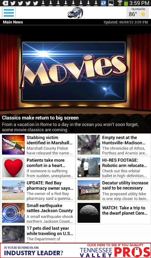 WAAY TV App for Android- screenshot