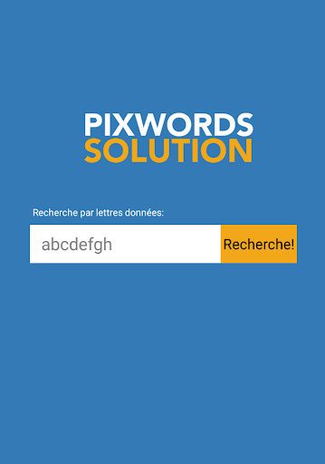 Pixwords Solution