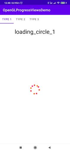 OpenGLProgressViewsDemo screenshot 1