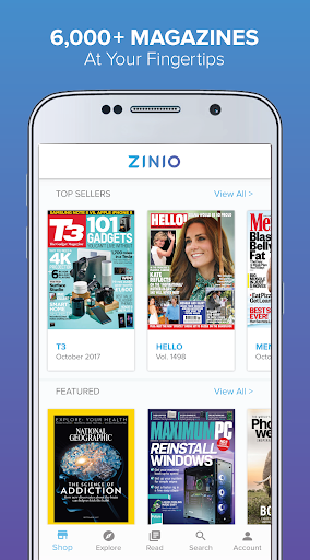 ZINIO - Magazine Newsstand 4.18.6 gameplay | AndroidFC 1
