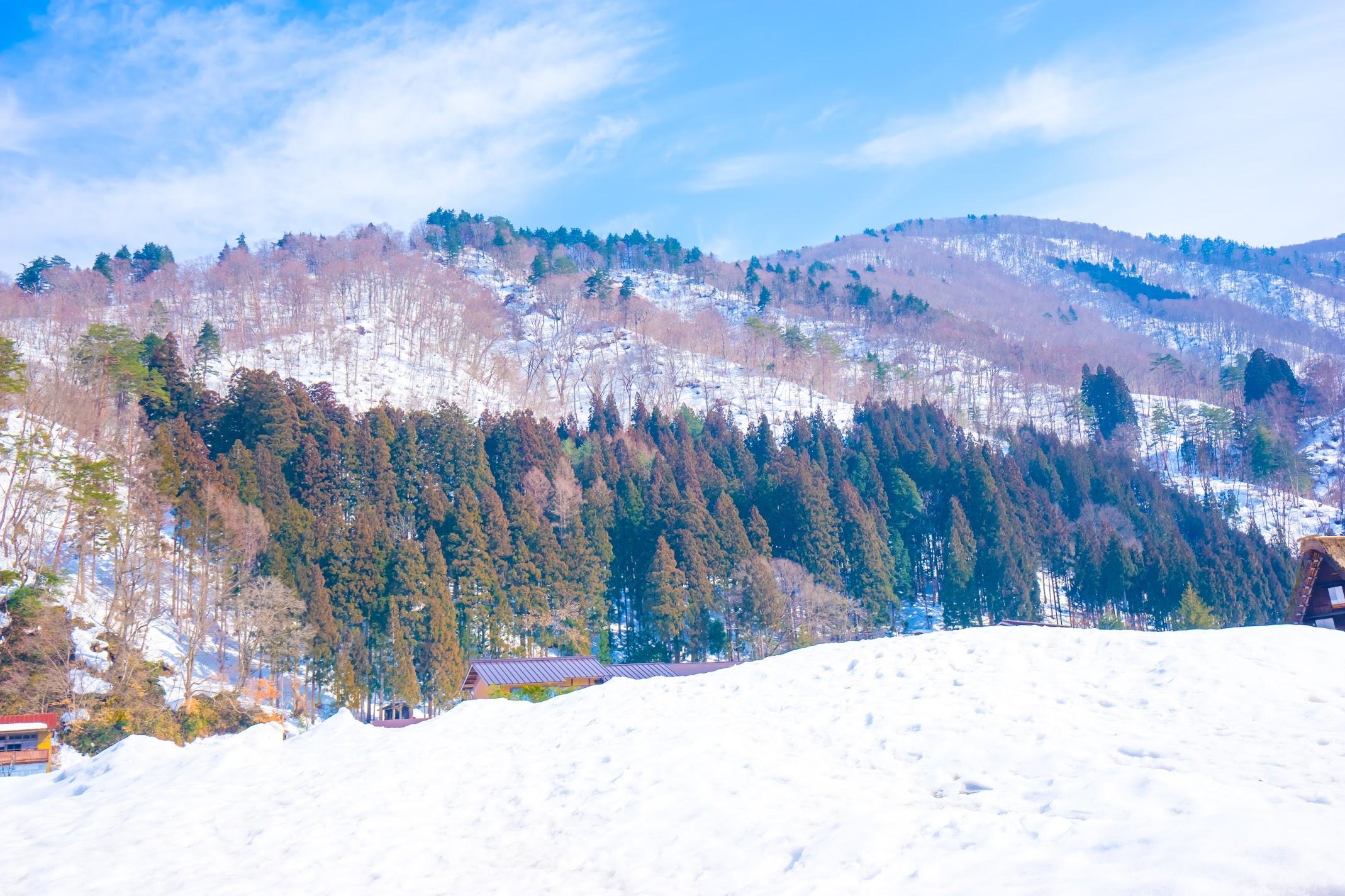 Shirakawa-go snow1