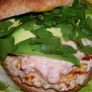 Smoky Mexican Chicken and Avocado Burger.