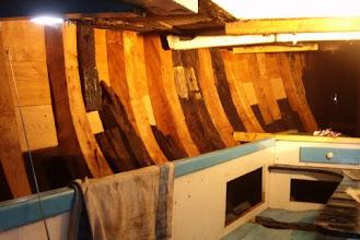 Photo: Het schip is weer dicht, de dekbalk en de wegering moeten er nog in.