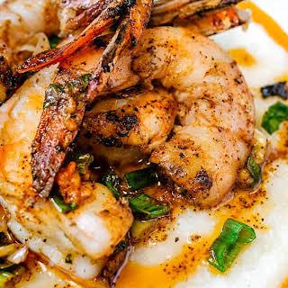 Grilled Cajun Shrimp and Grits.