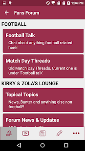 West Ham App- screenshot thumbnail