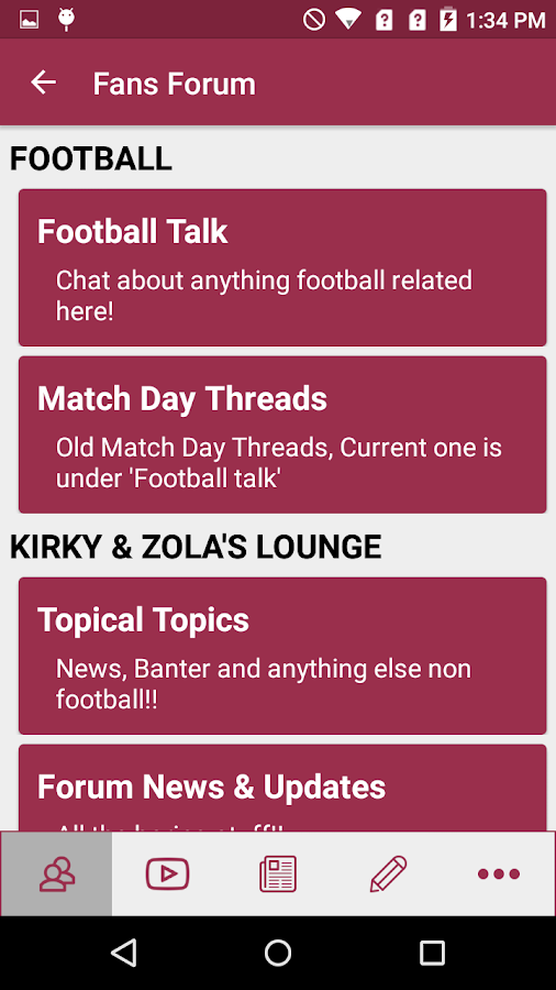 West Ham App- screenshot