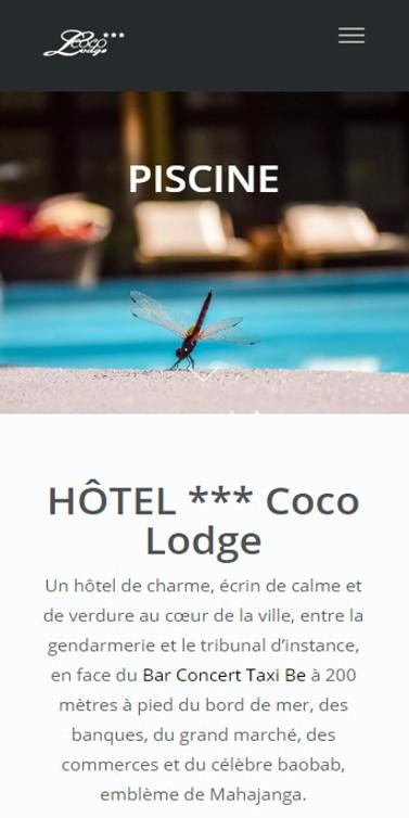 Hôtel Coco Lodge – Capture d'écran