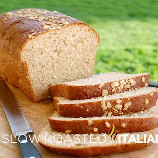 Honey Wheat Oatmeal Bread.