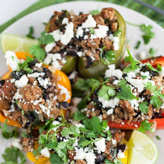 Southwest Turkey and Black Bean Stuffed Peppers.