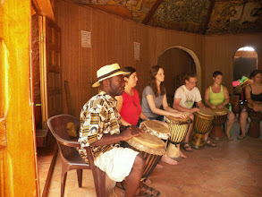 Photo: Drum circle. They were all proficients by the end!