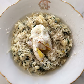 "Cauliflower and Spinach ""Risotto""."