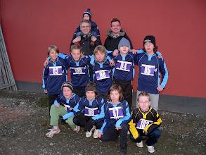 Photo: Auch einige Kleinfeldmannschaften beteiligten sich am Lauf, hier die Leinacher E1