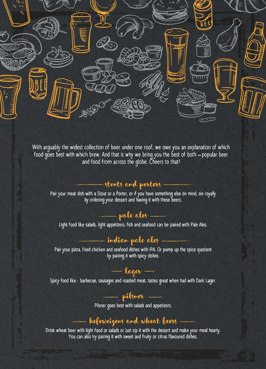 The Beer Cafe menu 2