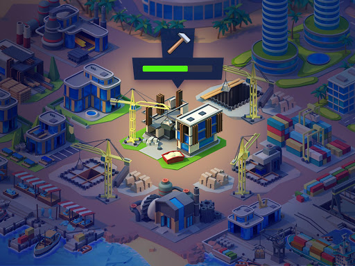 Sea Port: Cargo Ship & Town Build Tycoon Strategy apktram screenshots 5