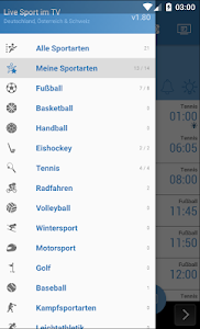 Live Sport im TV - Programm screenshot 1