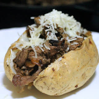 Philly Cheesesteak Loaded Baked Potato.