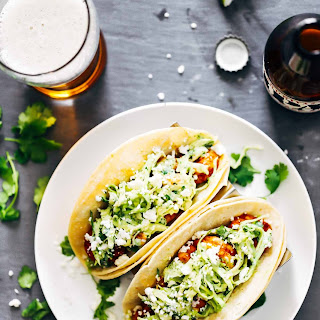Spicy Shrimp Tacos with Garlic Cilantro Lime Slaw