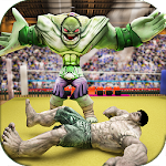 Incredible Monster Superheroes Ring Battle Icon