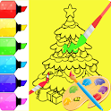 Coloring Book Merry Christmas-Easy Coloring icon