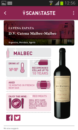 Scan Taste App para vinos