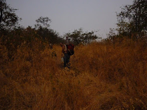 Photo: Ketan Vaidya and Ajit Bhobhate at first light as we slogged our way up to Bhatoba.