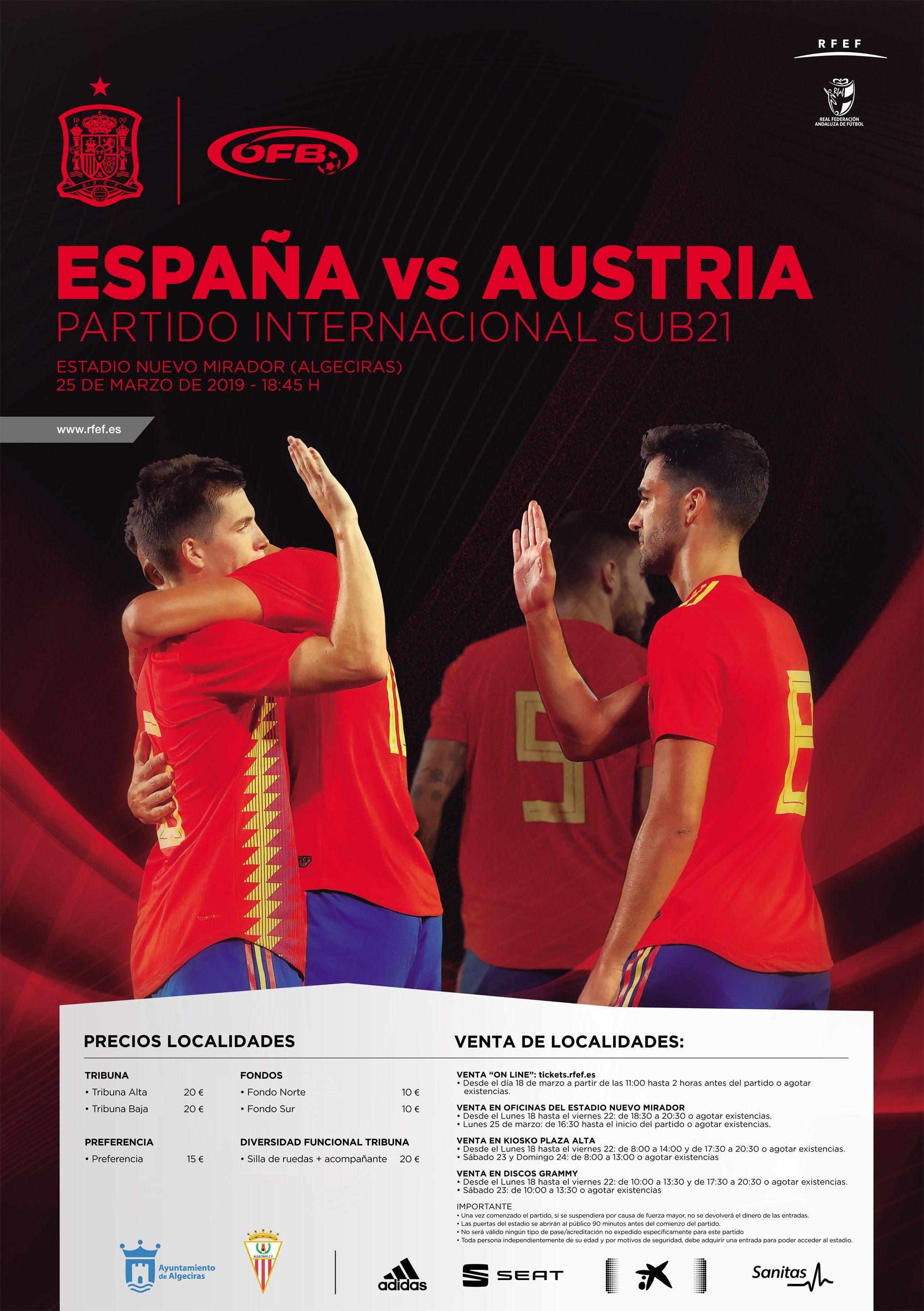Presentado el partido que la selección española sub 21 disputará el día 25 en Algeciras