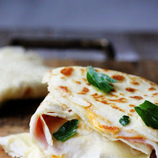 Ham and Cheese Crepes.