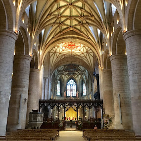 Tewkesbury Abbey Nave by Timothy Carney - Buildings & Architecture Places of Worship ( england, gothic, tewkesbury, abbey )