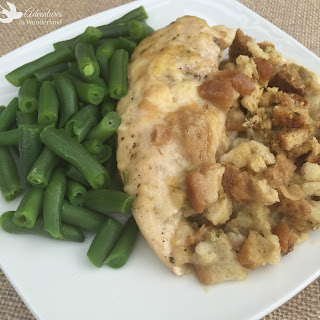 Crock Pot Chicken and Stuffing.