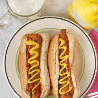 Vegan Grilled Carrot Dogs.