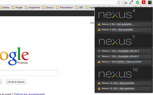 Nexus Notifier Extension
