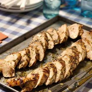 Herb-Rubbed Grilled Pork Tenderloin.